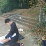 福岡地区高等学校野球大会(市長杯)2回戦トレーナーサポート