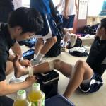 高校バスケ ウィンターカップ福岡県大会 トレーナーサポート
