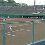 福岡地区高等学校新人野球大会 2回戦 トレーナーサポート
