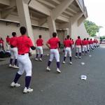 第100回全国高等学校野球選手権記念 南福岡大会 準々決勝戦トレーナーサポート