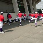 第144回 九州地区高等学校野球 福岡大会Bパート決勝 トレーナーサポート